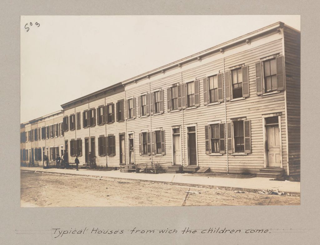 Social Settlements: United States. District Of Columbia. Washington. Noel House: Noel House, Washington, D.c.: Typical Houses From Which The Children Come.
