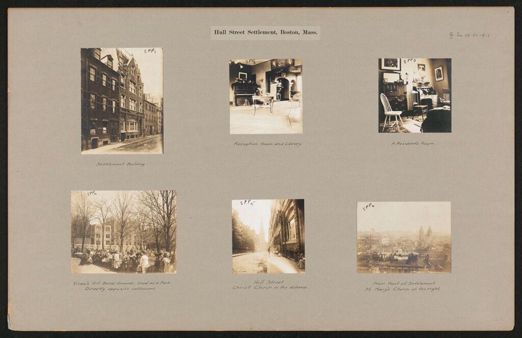 Social Settlements: United States. Massachusetts. Boston. Hull Street Settlement: Hull Street Settlement, Boston, Mass.
