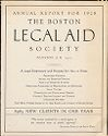 Charity, Organizations: United States. Massachusetts. Boston. Publicity For Social Work. Annual Reports: Annual Report For 1928. The Boston Legal Aid Society