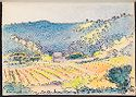 Landscape With Fields; Verso: Blank Page