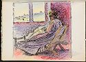 Seated Woman Before A Window; Verso: Blank Page