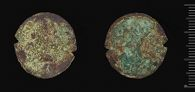 One of 9 illegible bronze coins from the Lamb collection