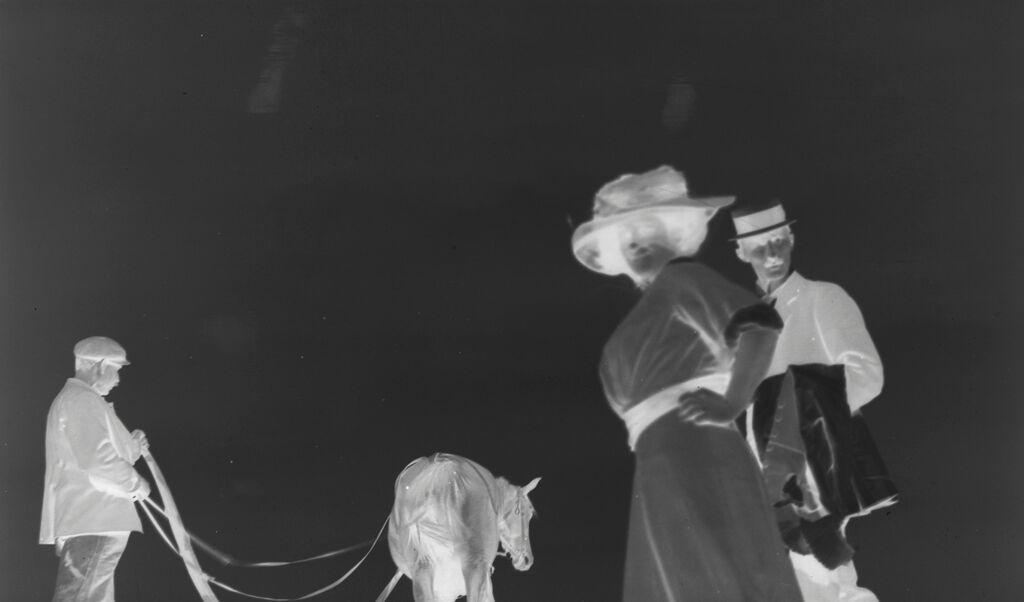 [Julia Feininger, Francis Christophe, And A Ploughman, Heringsdorf, Baltic Coast]