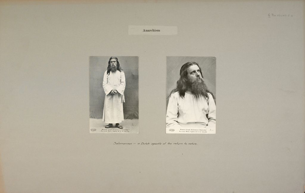 Anarchism: Holland. Portraits Of Salomonson: Anarchism: Salomonson - A Dutch Apostle Of The Return To Nature.