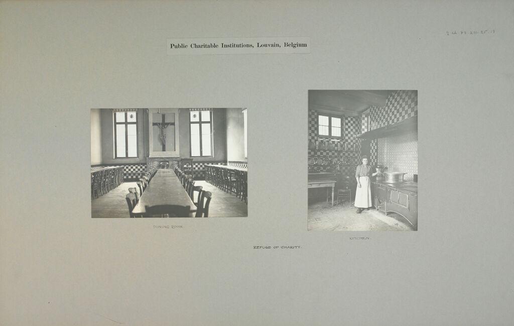 Charity, Aged: Belgium. Louvain. Refuge De Charité: Public Charitable Institutions, Louvain, Belgium: Refuge Of Charity.