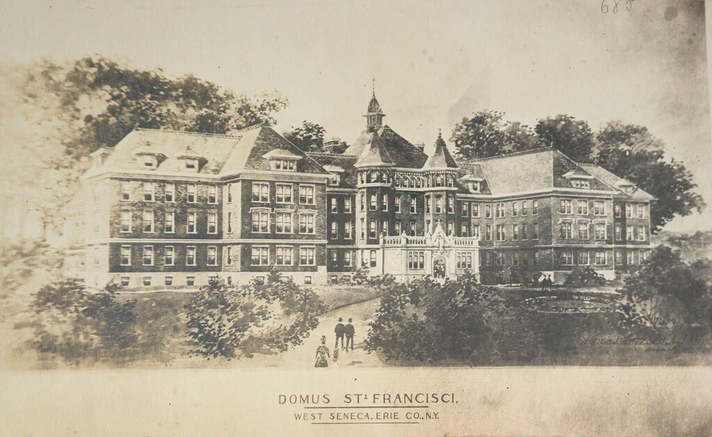 Charity, Aged: United States. New York. Buffalo. St. Francis Asylum: St. Francis Asylum, Buffalo, N.y.: Domus St. Francisci. West Seneca, Erie Co., N.y.