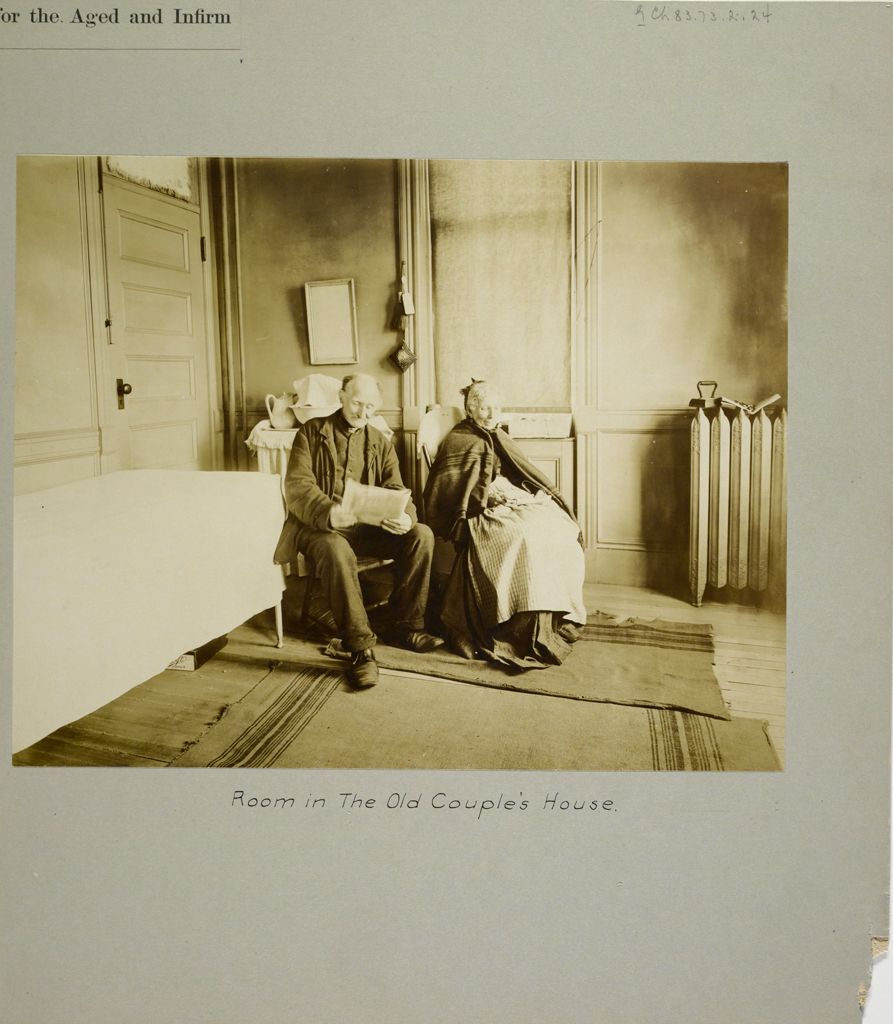 Charity, Aged: United States. New York. New York City. Home For Aged And Infirm, Manhattan Division, Blackwell's Island: New York City Home For The Aged And Infirm: Room In The Old Couple's House.