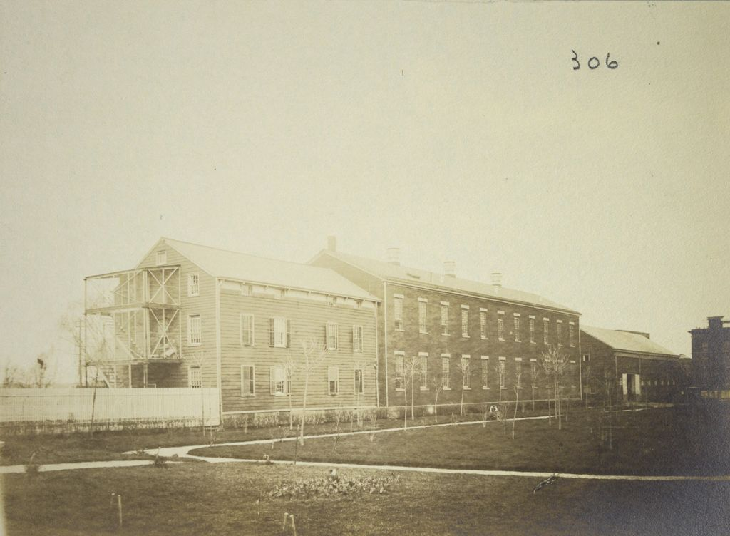 Charity, Aged: United States. New York. New York City. Home For Aged And Infirm, Brooklyn Division, Flatbush: Home For Aged And Infirm, Brooklyn Division, Flatbush (New York City Almshouse System): Buildings For Infants, Aged Women, And Nervous Cases