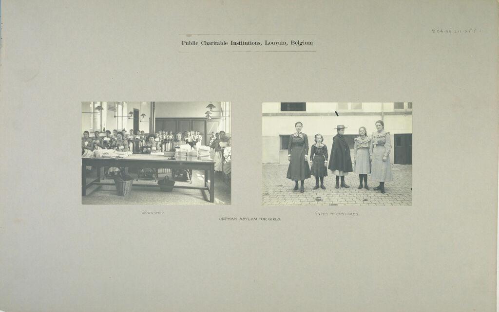 Charity, Children: Belgium. Louvain. Orphan Asylums: Public Charitable Institutions, Louvain, Belgium: Orphan Asylum For Girls