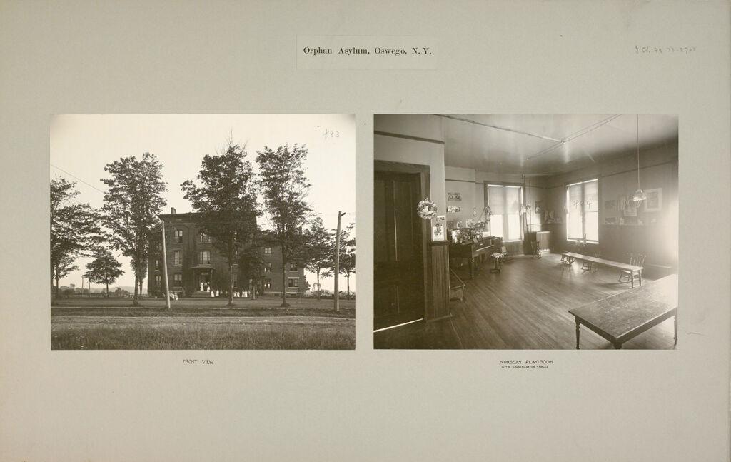 Charity, Children: United States. New York. Oswego. Orphan Asylum: Orphan Asylum, Oswego, N.y.