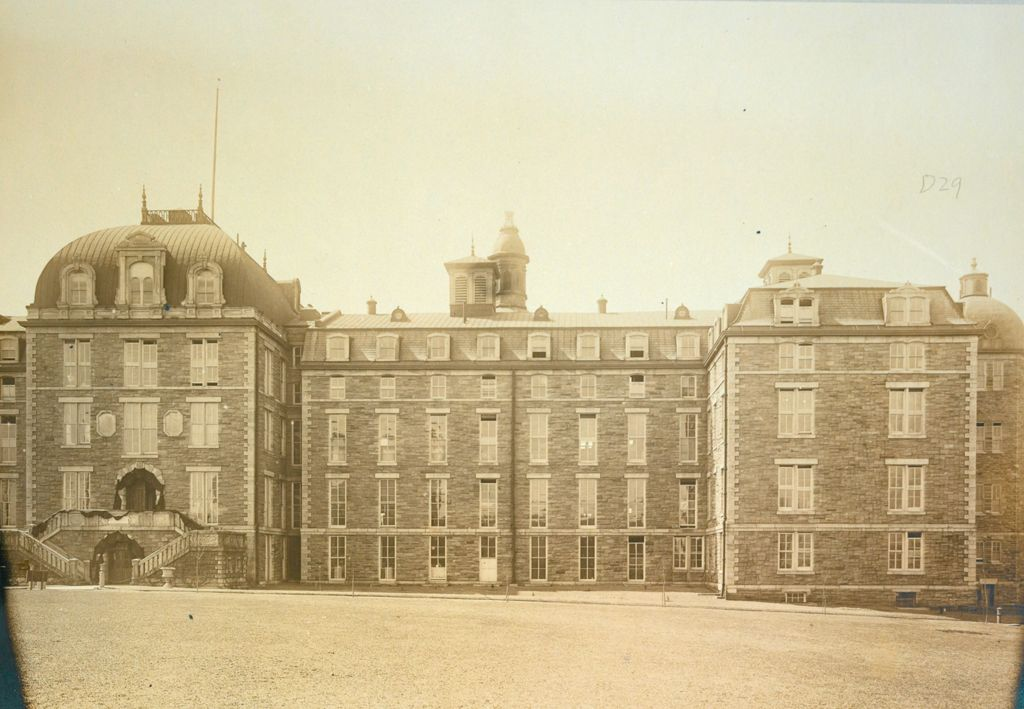 Charity, Hospitals: United States. New York. New York City. City Hospital, Blackwell's Island: City Hospital, Blackwell's Island, New York: Front Elevation Of Hospital: