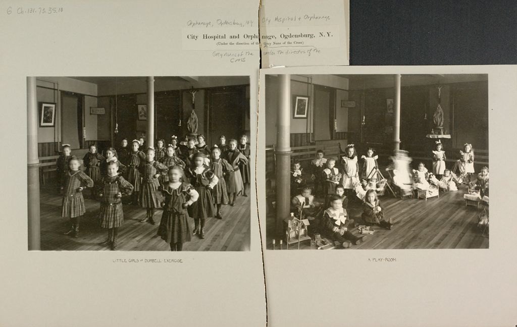 Charity, Hospitals: United States. New York. Ogdensburg. City Hospital And Orphanage: Grey Nuns Of The Cross: City Hospital And Orphanage, Ogdensburg, N.y. (Under The Direction Of The Grey Nuns Of The Cross)