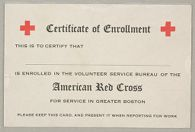 Charity, Public: United States. Massachusetts. Boston. American National Red Cross: American National Red Cross. Record Blanks: Certificate of Enrollment