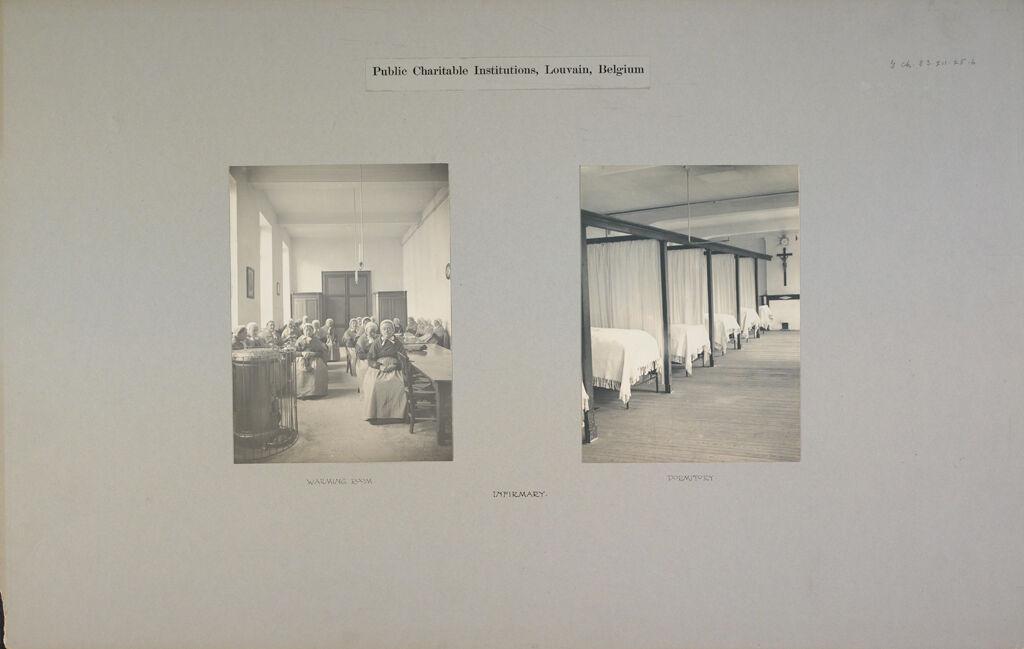 Charity, Hospitals: Belgium. Louvain. Infirmerie: Public Charitable Institutions, Louvain, Belgium: Infirmary.