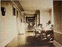 Charity, Hospitals: United States. New York. New York City. Metropolitan Hospital, Blackwell's Island: Metropolitan Hospital, New York City: Male Corridor.