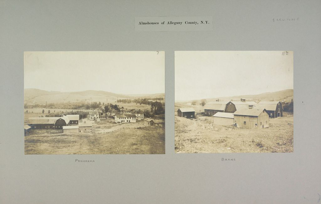 Charity, Public: United States. New York. Angelica. Allegany County Almshouse: Almshouses Of Allegany County, N.y.