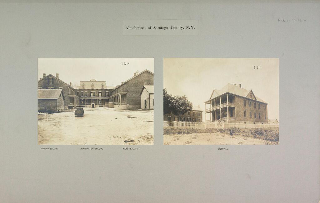 Charity, Public: United States. New York. Ballston Spa. Saratoga County Almshouse: Almshouses Of Saratoga County, N.y.