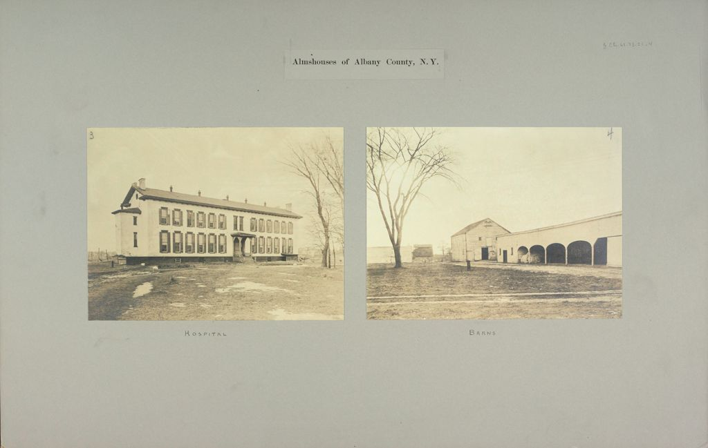 Charity, Public: United States. New York. Albany. City And County Almshouse: Almshouses Of Albany County, N.y.