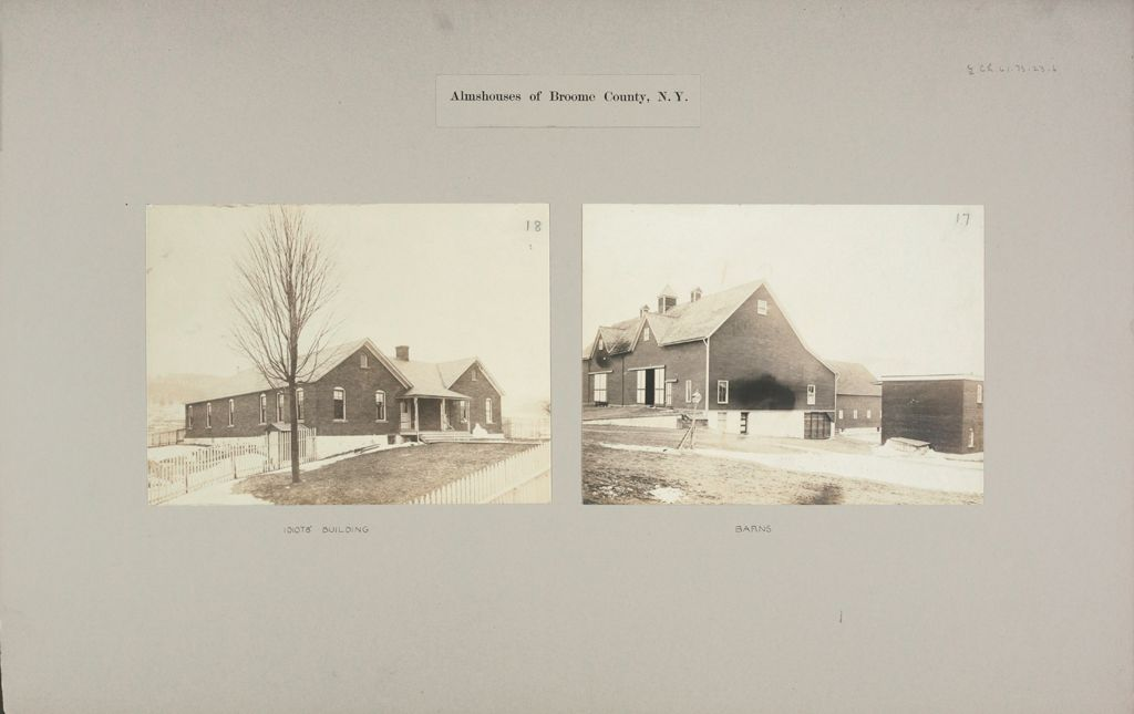 Charity, Public: United States. New York. Binghamton. Broome County Almshouse: Almshouses Of Broome County, N.y.