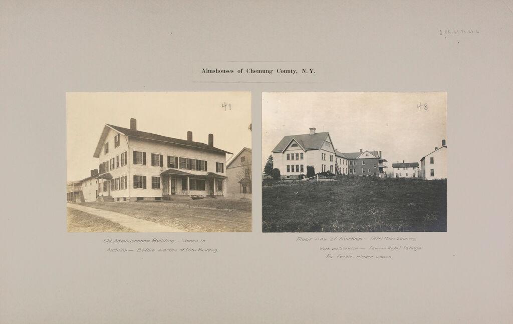 Charity, Public: United States. New York. Breesport. Chemung County Almshouse: Almshouses Of Chemung County, N.y.