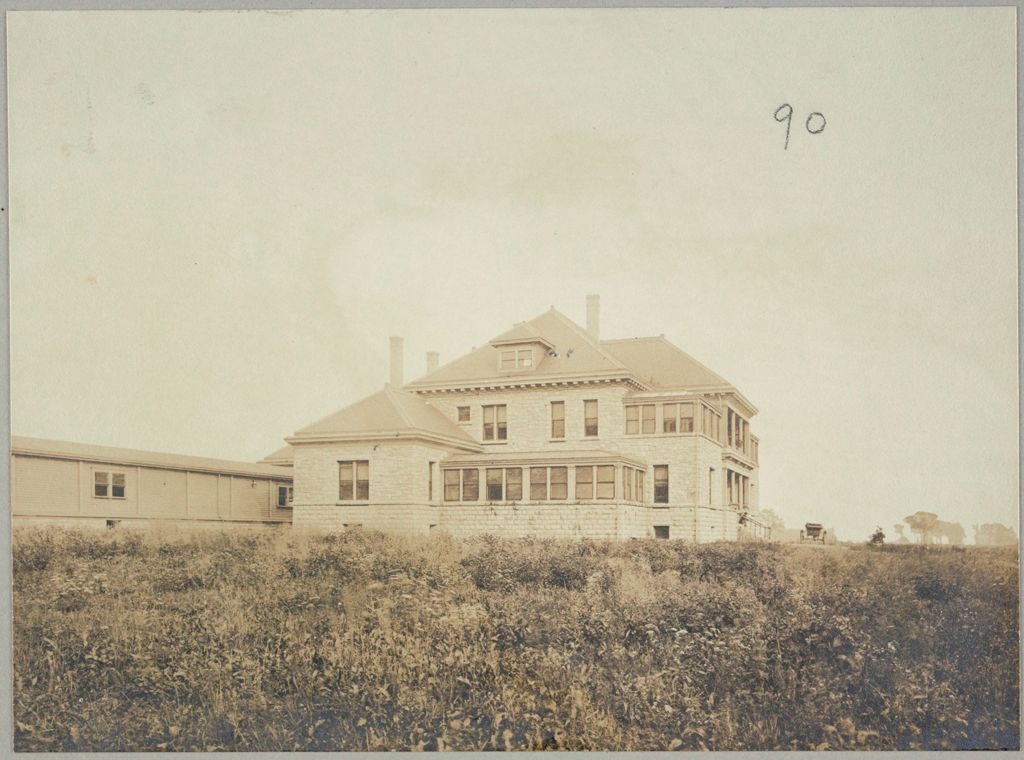 Charity, Public: United States. New York. Buffalo. Erie County Almshouse: Almshouses Of Erie County, N.y.: Side View Of Hospital For Consumptive Patients