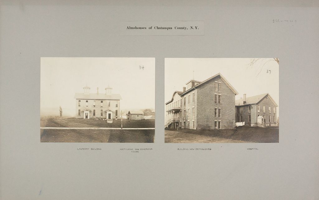 Charity, Public: United States. New York. Dewittville. Chautauqua County Almshouse: Almshouses Of Chatauqua [Sic] County, N.y.
