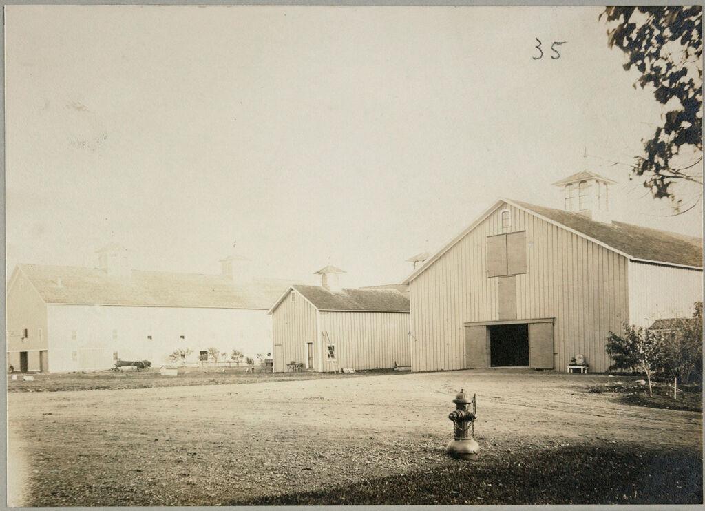 Charity, Public: United States. New York. Dewittville. Chautauqua County Almshouse: Almshouses Of Chatauqua [Sic] County, N.y.: Barns