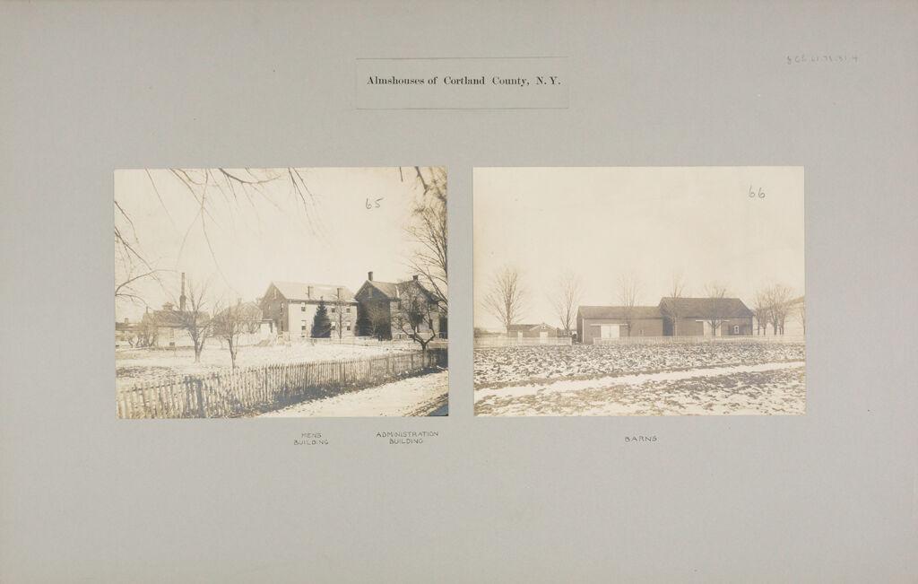 Charity, Public: United States. New York. Cortland. Cortland County Almshouse: Almshouses Of Cortland County, N.y.