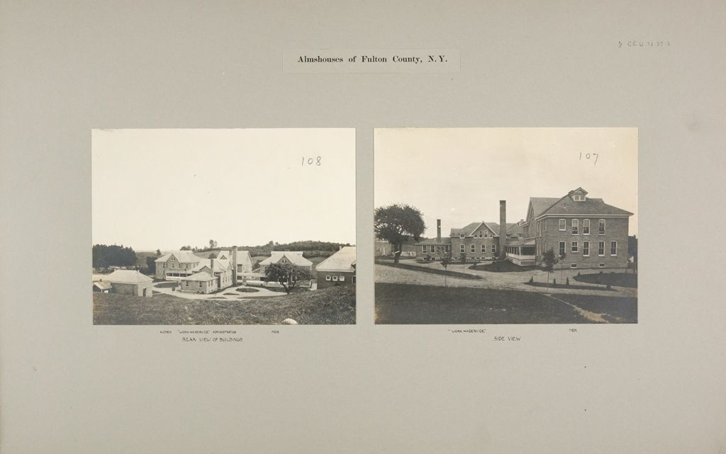 Charity, Public: United States. New York. Gloversville. Fulton County Almshouse: Almshouses Of Fulton County, N.y.