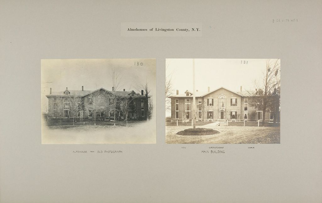 Charity, Public: United States. New York. Geneseo. Livingston County Almshouse: Almshouses Of Livingston County, N.y.