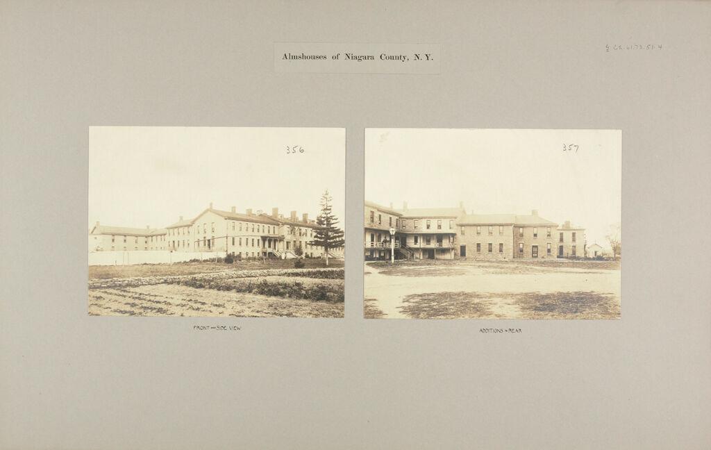 Charity, Public: United States. New York. Lockport. Niagara County Almshouse: Almshouses Of Niagara County, N.y.