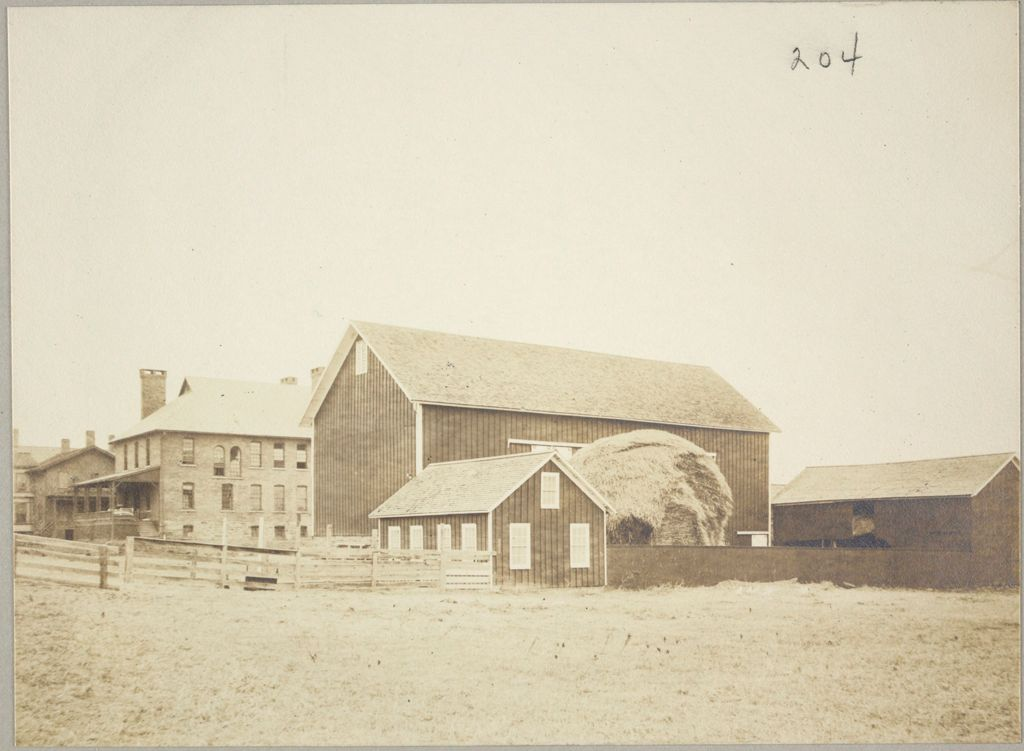 Charity, Public: United States. New York. Jacksonville. Tompkins County Almshouse: Almshouses Of Tompkins County, N.y.: Men's Building; Barns
