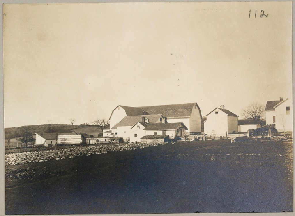 Charity, Public: United States. New York. Linden. Genesee County Almshouse: Almshouses Of Genesee County, N.y.: Panoramic View Of Half Of Rear Buildings