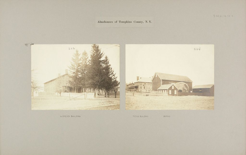 Charity, Public: United States. New York. Jacksonville. Tompkins County Almshouse: Almshouses Of Tompkins County, N.y.
