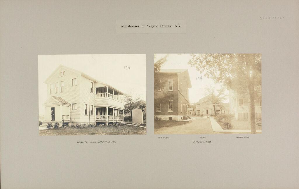 Charity, Public: United States. New York. Lyons. Wayne County Almshouse: Almshouses Of Wayne County, N.y.