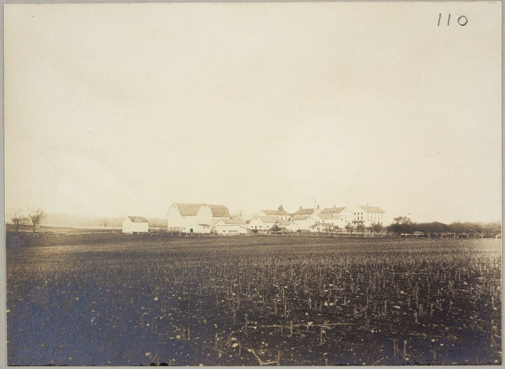 Charity, Public: United States. New York. Linden. Genesee County Almshouse: Almshouses Of Genesee County, N.y.: Panorama From Rear