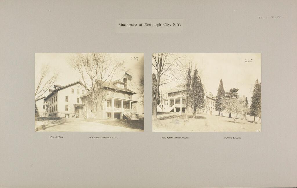 Charity, Public: United States. New York. Newburgh. City Almshouse: Almshouses Of Newburgh City, N.y.