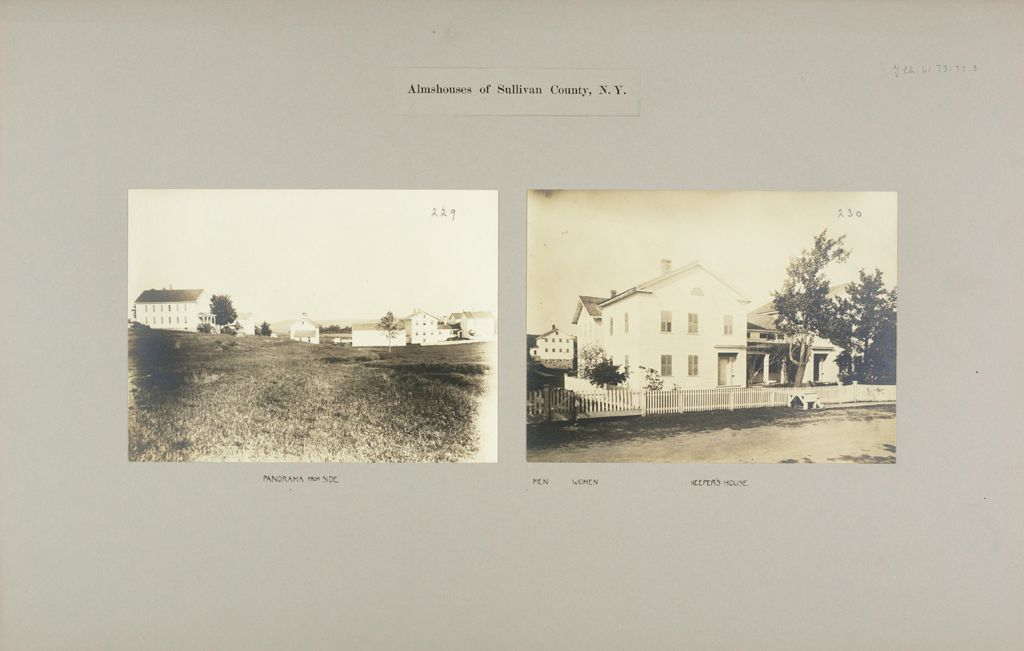 Charity, Public: United States. New York. Monticello. Sullivan County Almshouse: Almshouses Of Sullivan County, N.y.