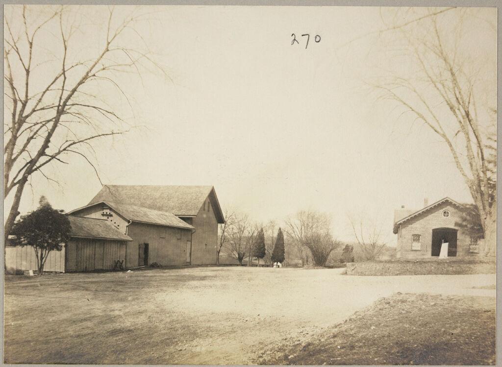 Charity, Public: United States. New York. Newburgh. City Almshouse: Almshouses Of Newburgh City, N.y.: Barns