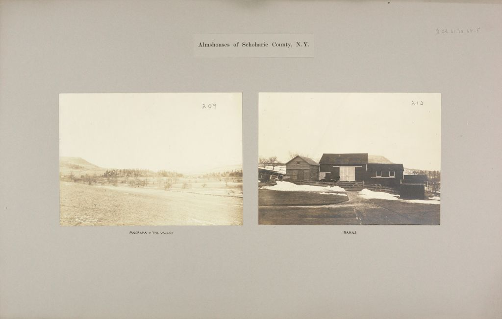 Charity, Public: United States. New York. Middleburgh. Schoharie County Almshouse: Almshouses Of Schoharie County, N.y.