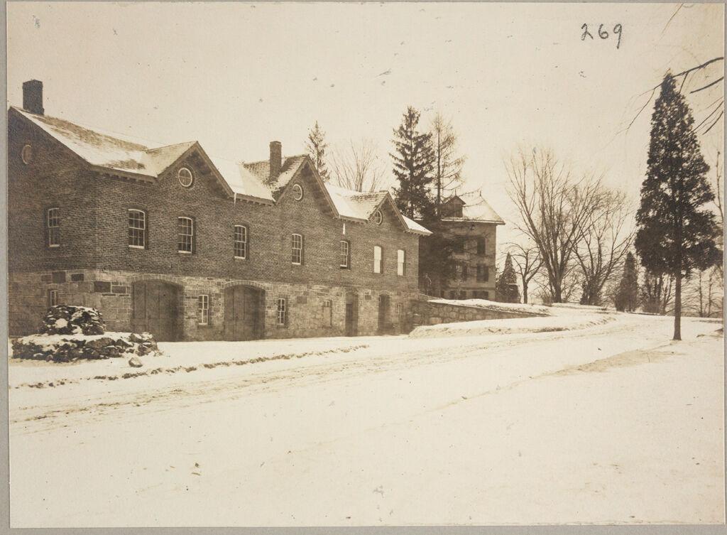 Charity, Public: United States. New York. Newburgh. City Almshouse: Almshouses Of Newburgh City, N.y.: Horse-Barn And Storage Cellars
