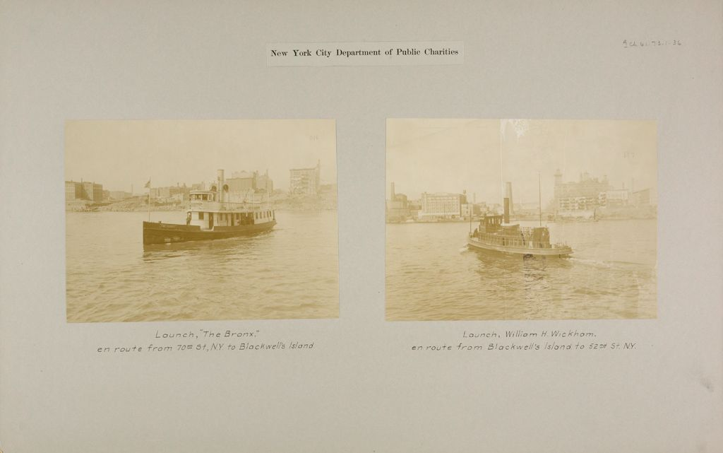 Charity, Public: United States. New York. New York City. Blackwell's Island: New York City Department Of Public Charities