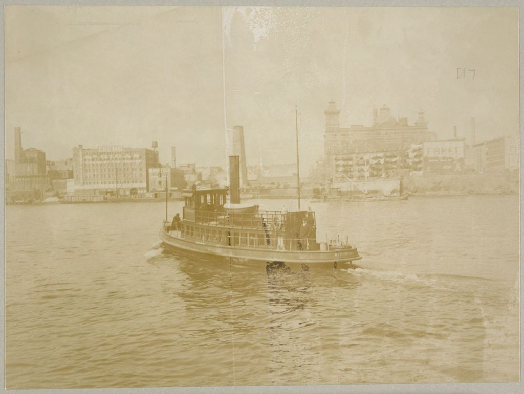 Charity, Public: United States. New York. New York City. Blackwell's Island: New York City Department Of Public Charities: Launch, William H. Wickham, En Route From Blackwell's Island To 52Nd St. N.y.