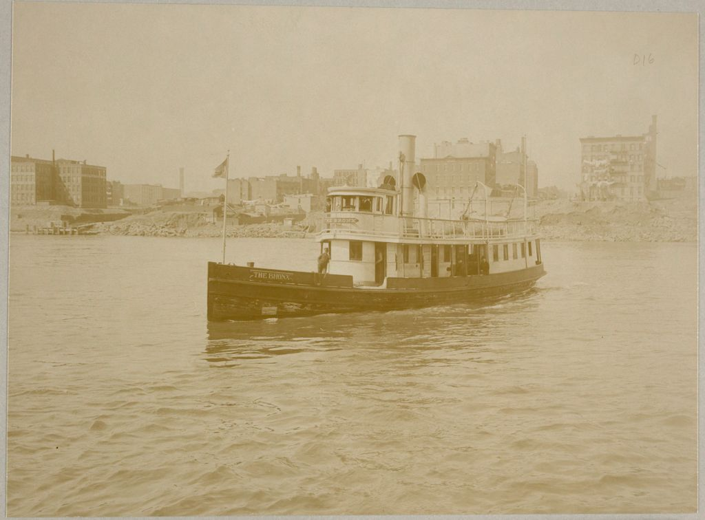Charity, Public: United States. New York. New York City. Blackwell's Island: New York City Department Of Public Charities: Launch, The Bronx, En Route From 70Th St., N.y. To Blackwell's Island