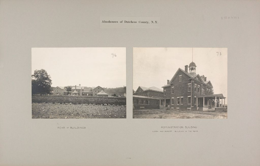 Charity, Public: United States. New York. Oak Summit. Dutchess County Almshouse: Almshouses Of Dutchess County, N.y.