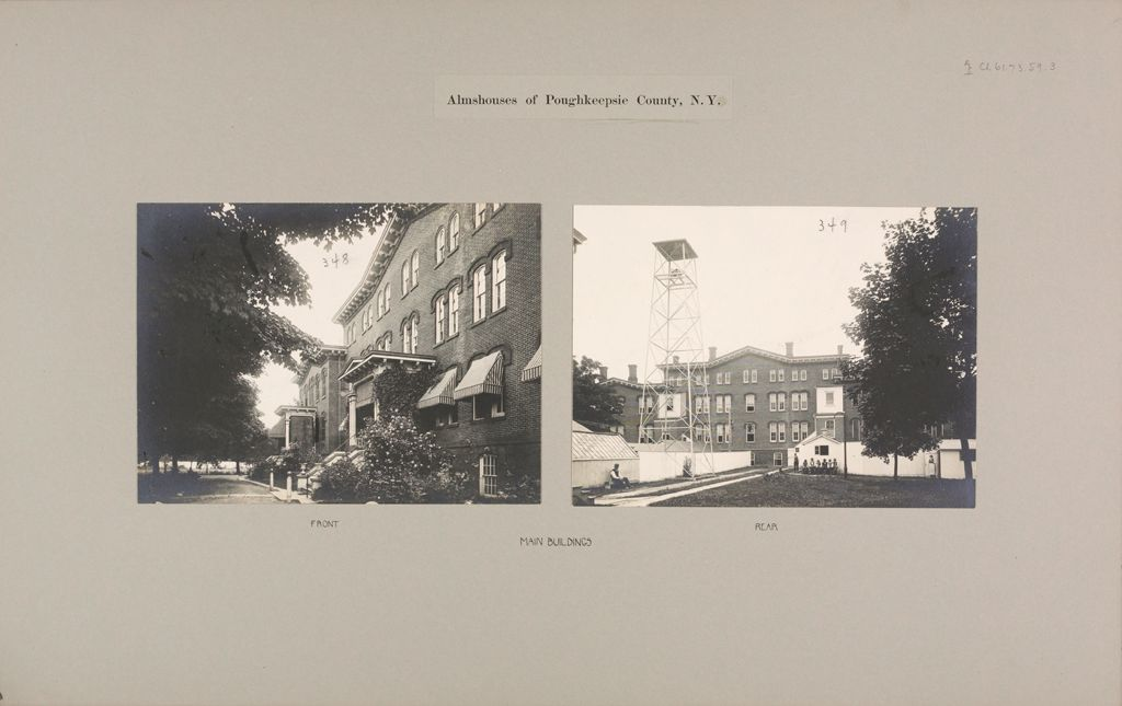 Charity, Public: United States. New York. Poughkeepsie. County Almshouse: Almshouses Of Poughkeepsie County, N.y.: Main Buildings