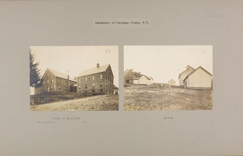 Charity, Public: United States. New York. Preston. Chenango County Almshouse: Almshouses Of Chenango County, N.y.