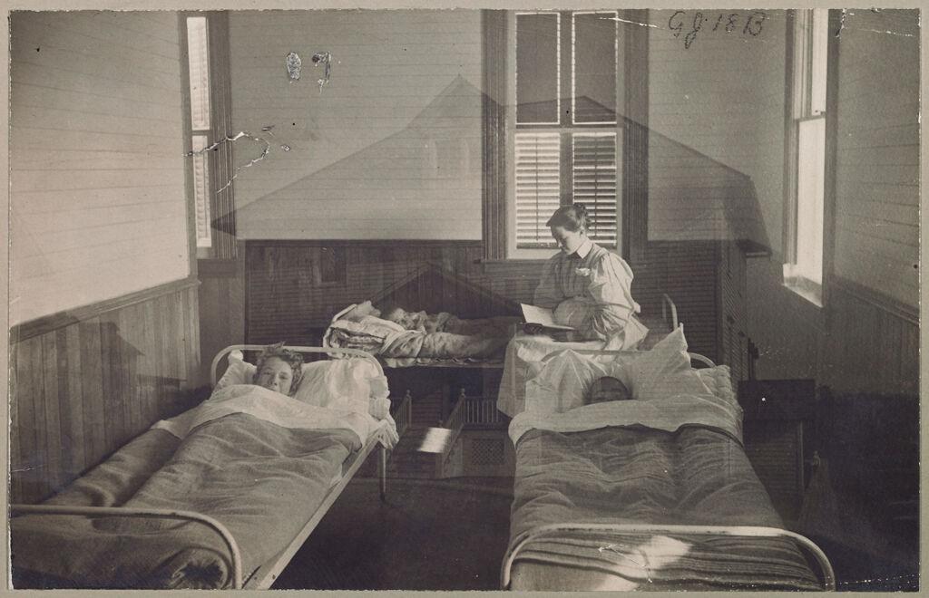 Crime, Children, Reform Schools: United States. New York. Freeville. George Junior Republic: George Junior Republic, Freeville, N.y.: A View Within The Hospital.