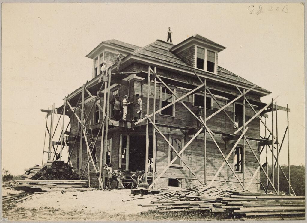 Crime, Children, Reform Schools: United States. New York. Freeville. George Junior Republic: George Junior Republic, Freeville, N.y.: Boys Constructing New Building.