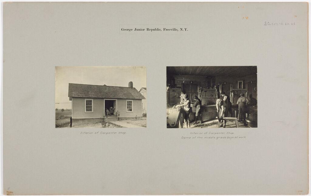 Crime, Children, Reform Schools: United States. New York. Freeville. George Junior Republic: George Junior Republic, Freeville, N.y.
